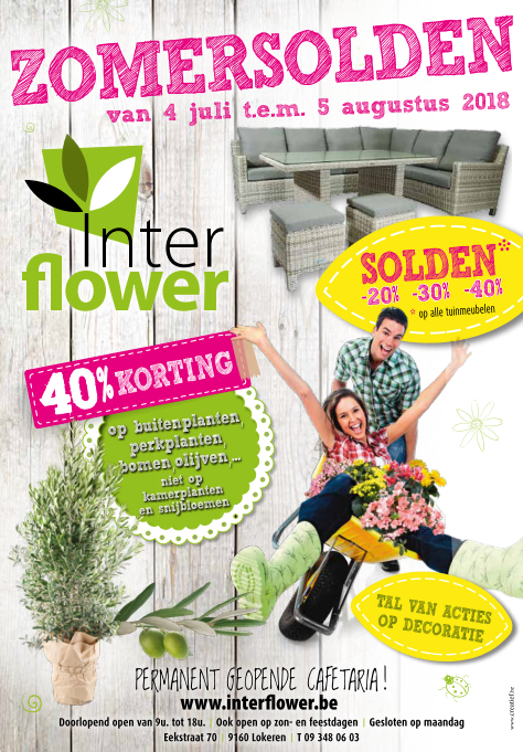 Zomersolden Tuincentrum Interflower