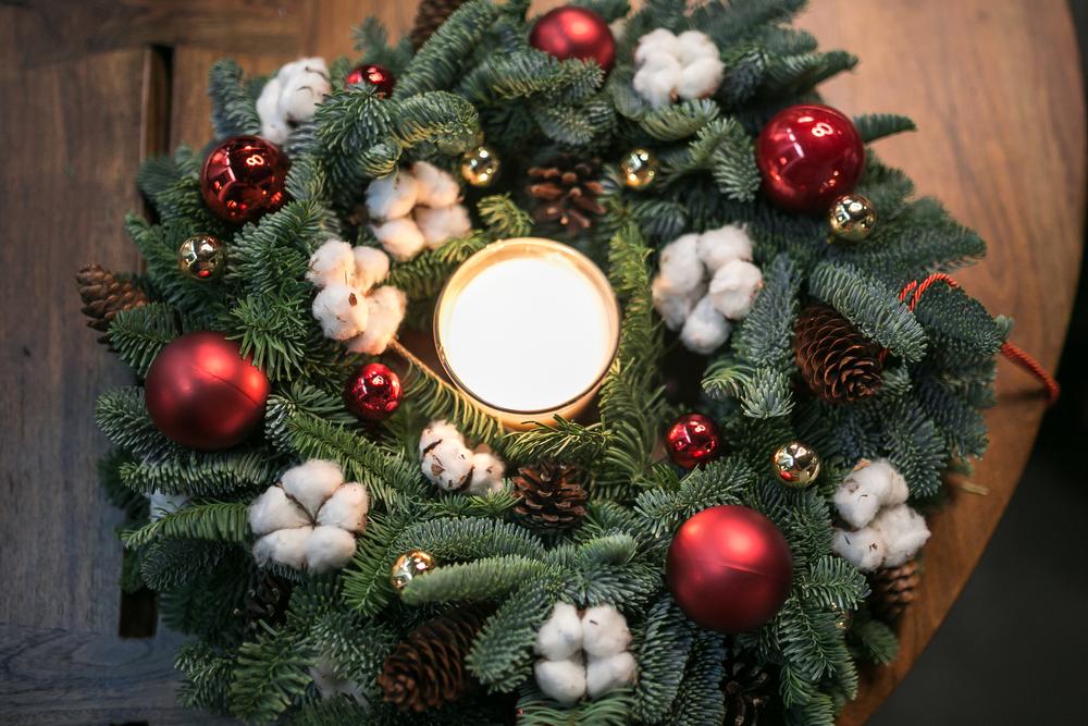 Kerststukje_Tuincentrum Interflower